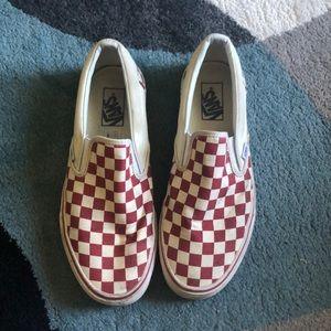 Red Checkerboard Slip-On Vans